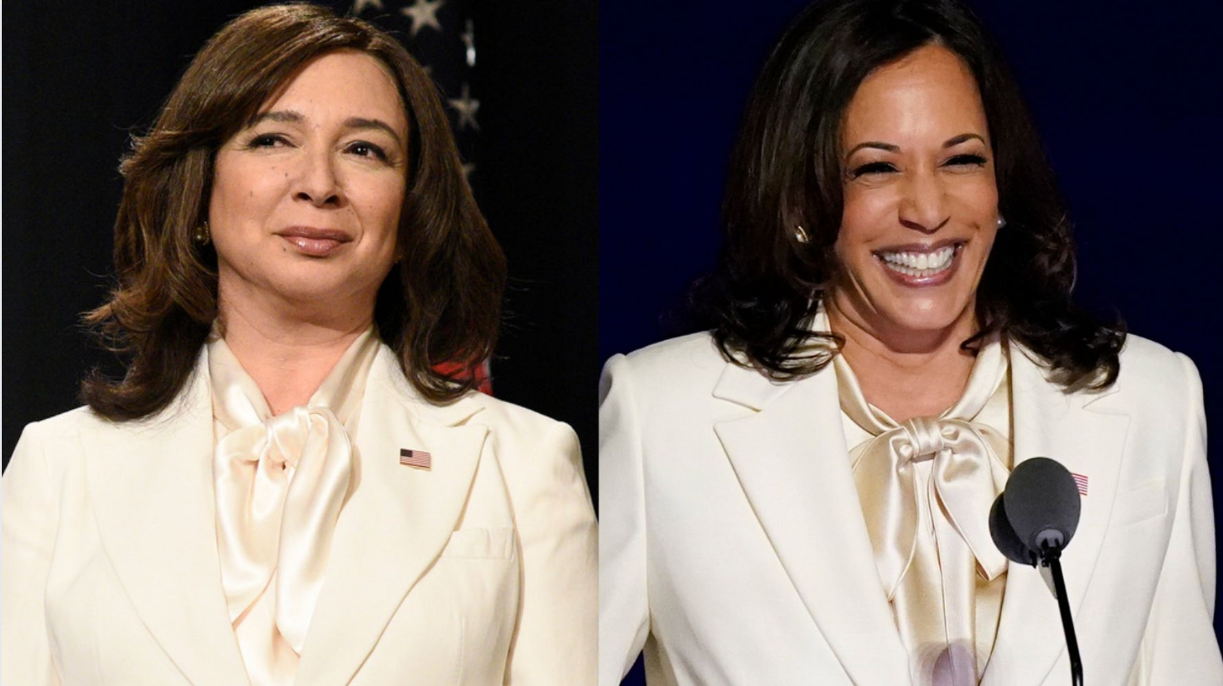 How 'SNL' Pulled Off Re-creating Kamala Harris' Pantsuit With A Melania Twist