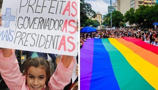 Estas iniciativas ajudam a conectar eleitores a candidatas mulheres e LGBTs nestas