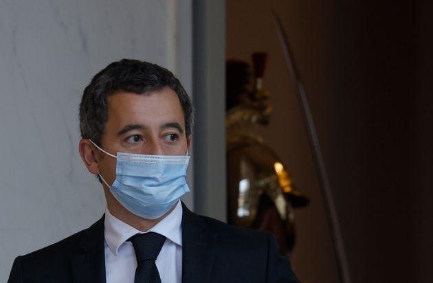 Gerald Darmanin quittant l'Elysée le 10 novembre 2020 (Photo by LUDOVIC MARIN/AFP via Getty