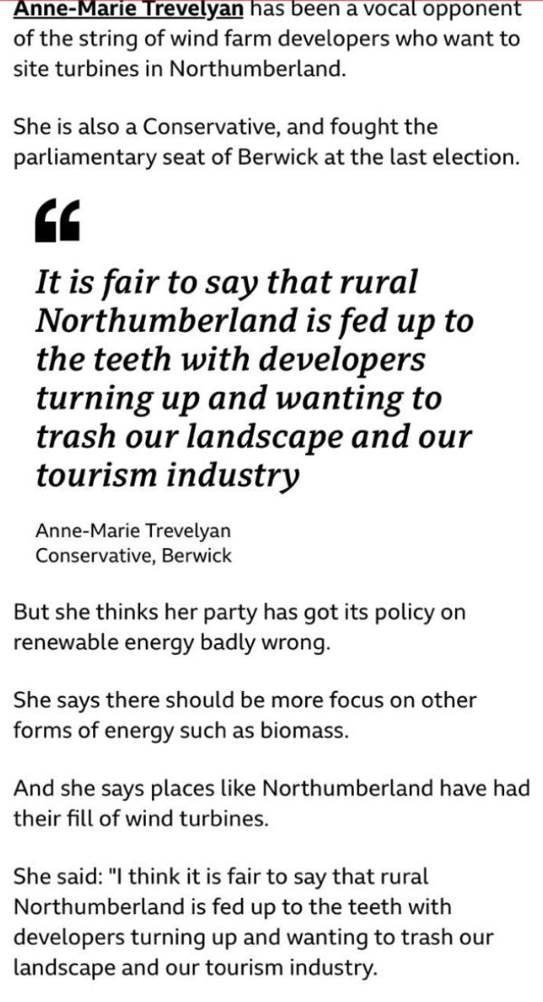 Anne-Marie Trevelyan comments on climate issues in