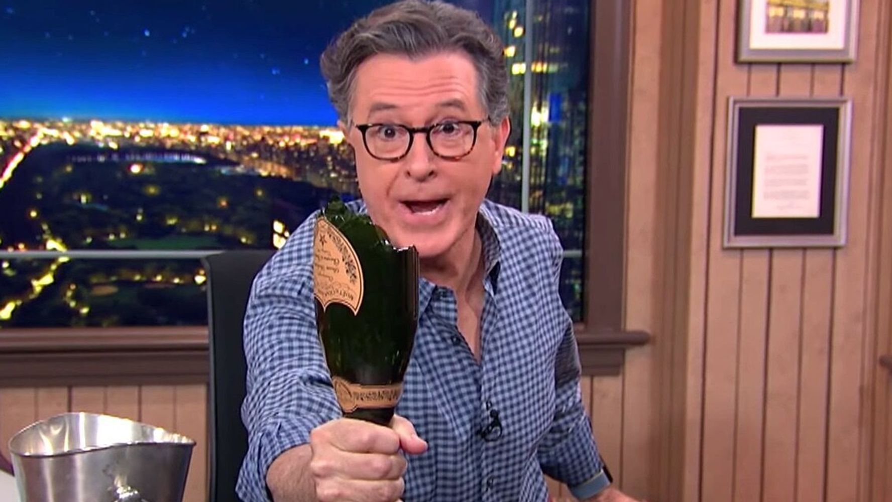 Stephen Colbert Shows How Quickly His Celebration Turned To Rage