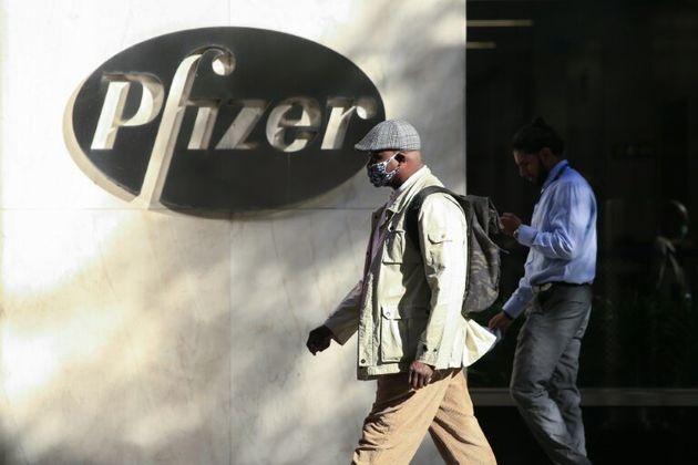 La sede mundial de Pfizer en Nueva York, Estados Unidos, el 9 de noviembre de