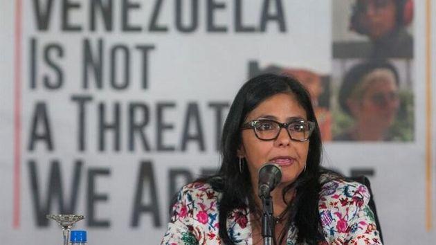 La vicepresidenta de Venezuela, Delcy