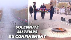 Les images de la cérémonie de l'Armistice confinée présidée par