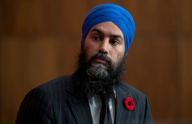 NDP Leader Jagmeet Singh listens to a news conference in Ottawa on Nov. 5. Singh says he hears concerns...