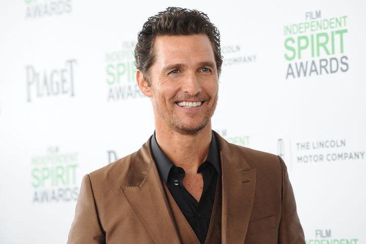 McConaughey attends the 2014 Film Independent Spirit Awards on March 1, 2014, in Santa Monica, California.