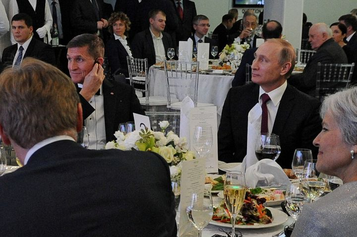 Overtures to the Russian ambassador in Washington, D.C., by former Trump national security adviser Michael Flynn (left) befor