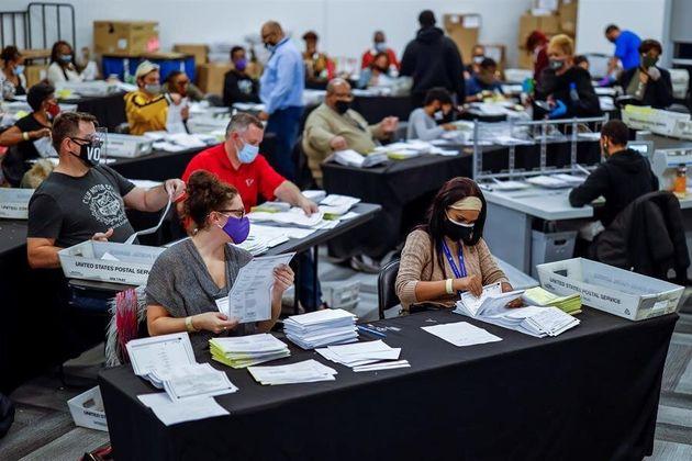 Recuento de votos en Georgia