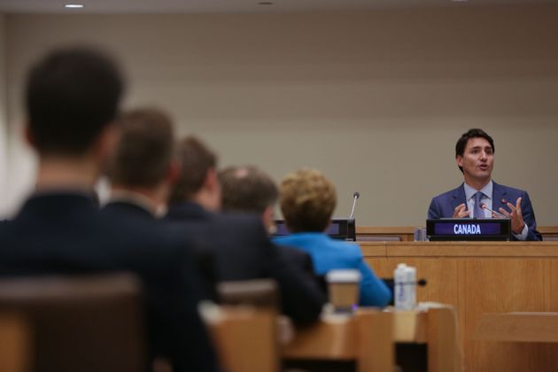 Prime Minister Justin Trudeau speaks at UN