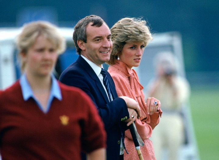 Princess Diana with her bodyguard Barry Mannakee in 1985.