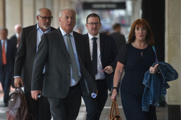(left to right) Labour MPs Jon Trickett, Ian Lavery, Andrew Gwynne and Jeremy Corbyn's ex aide Karie