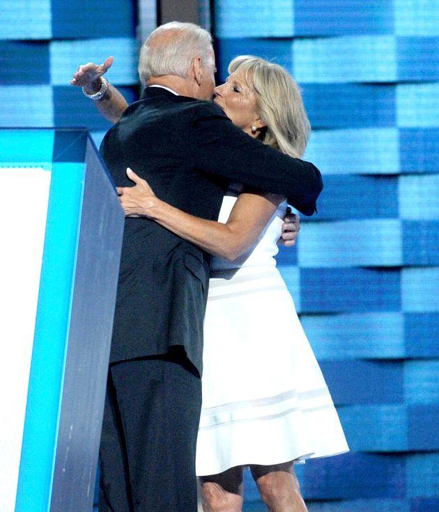 Joe Biden y su mujer, Jill Biden, durante la Convención