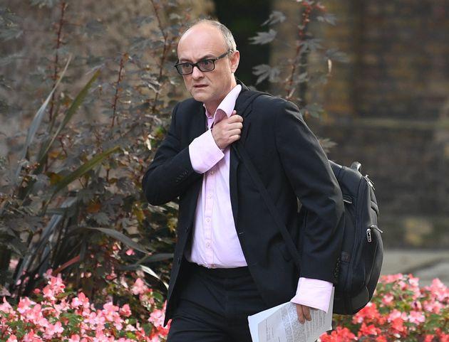Senior aide to Prime Minister Boris Johnson, Dominic Cummings, arrives in Downing