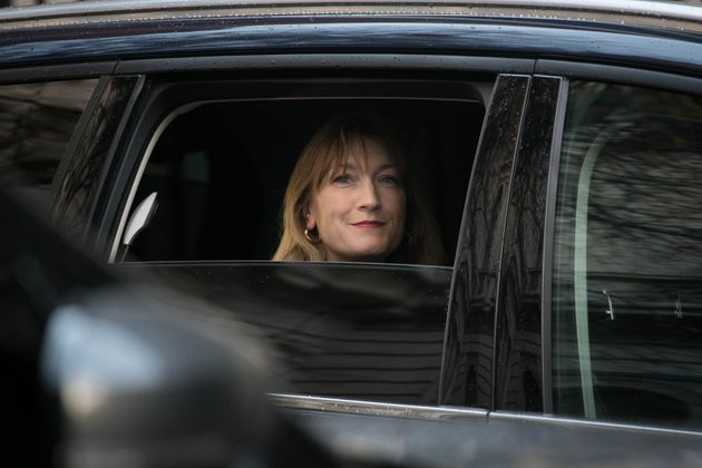 Allegra Stratton, the face of Downing Street's new daily televised press briefings in Downing Street,...