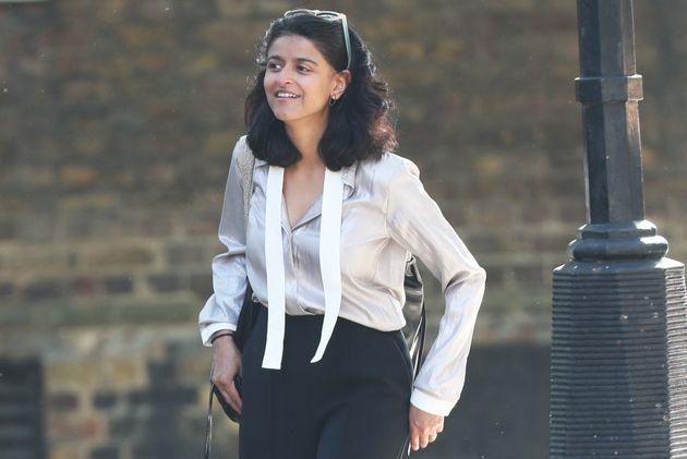 Munira Mirza, director of the No.10 Policy Unit, arrives at 10 Downing Street,