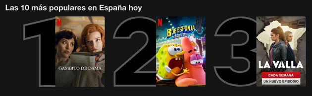 Lo más popular de Netflix en España el 12 de noviembre de