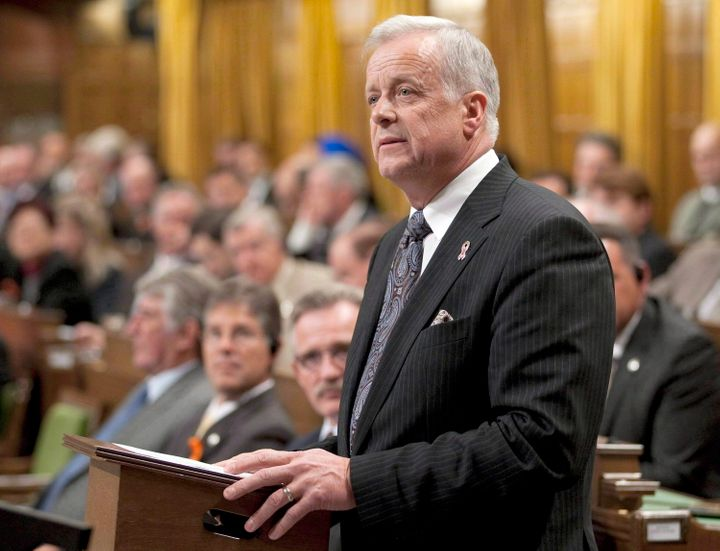 Former Conservative MP Jay Hill speaks in the House of Commons on Oct. 4, 2010.