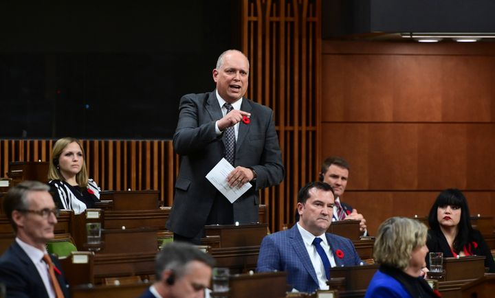 Bloc Québécois MPStéphane Bergeron asks a question in the House of Commons on Nov. 2, 2020.
