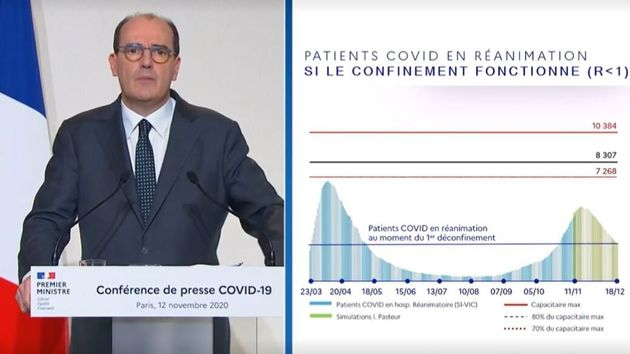 Jean Castex, ici lors de sa conférence de presse à Paris, le 12 novembre