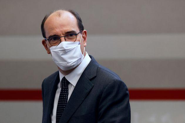Le premier ministre Jean Castex peu avant son discours du 12 novembre sur l'état de l'épidémie de Covid-19...