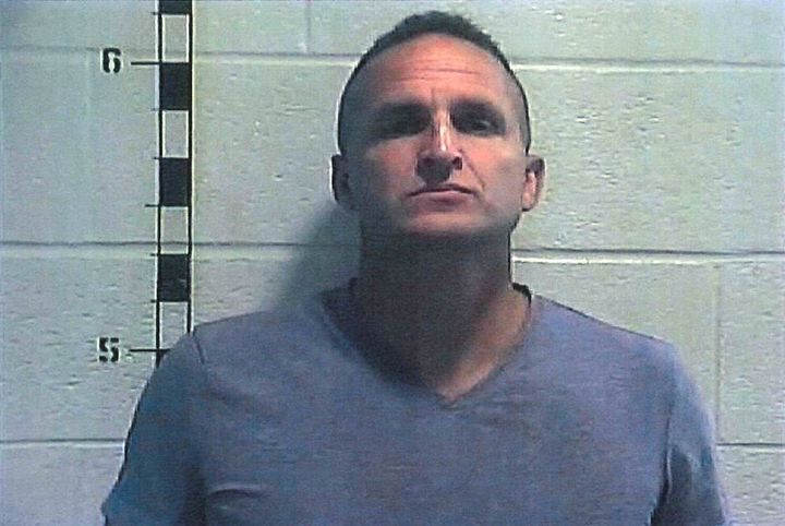 Former Louisville police officer Brett Hankison poses for a booking photo at Shelby County Detention Center in Shelbyville, K