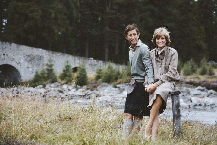 Prince Charles and Princess Diana during their honeymoon in Balmoral, Scotland, on Aug. 19, 1981.