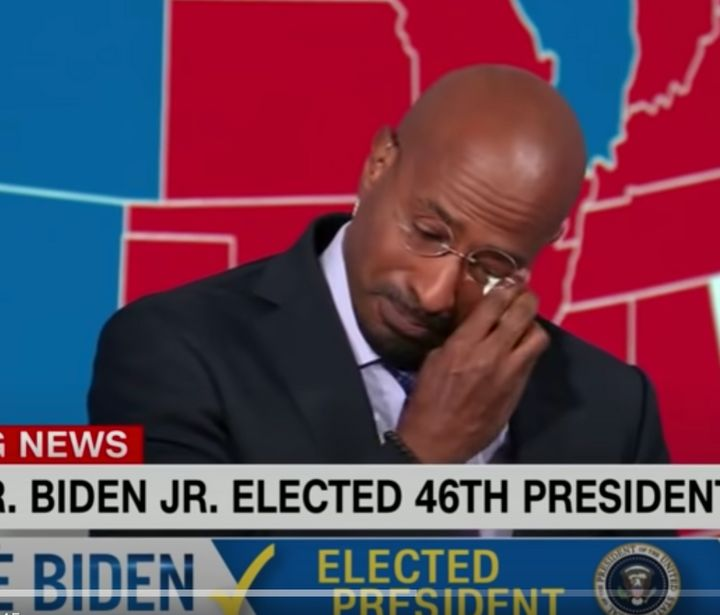 Van Jones got emotional on-air reacting to Joe Biden's election as the 46th president of the United States.
