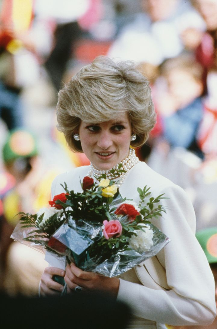Princess Diana at the Expo '86 Exhibition in Vancouver, during the royal tour of Canada, on May 6, 1986.