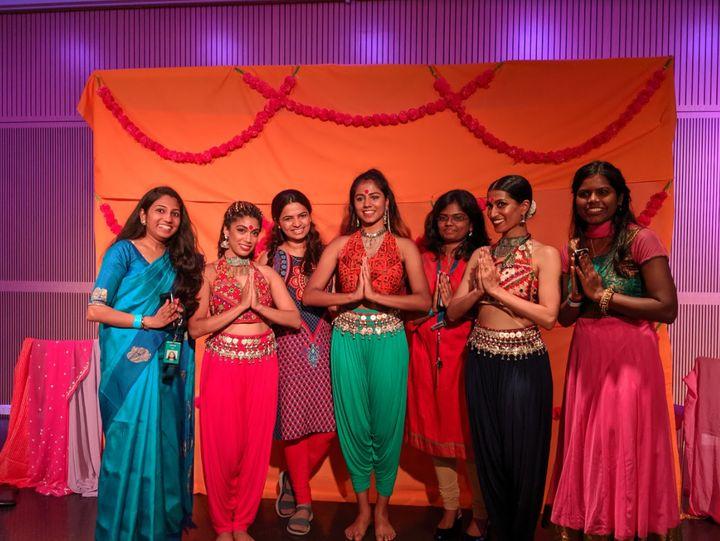 The Bindi Bosses perform for Diwali in 2019.
