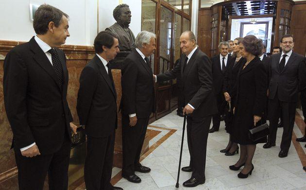 Zapatero, Aznar, González, los eméritos y