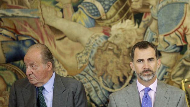 Juan Carlos I y Felipe