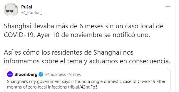 Un tuitero explica lo que sucede en China al detectar un