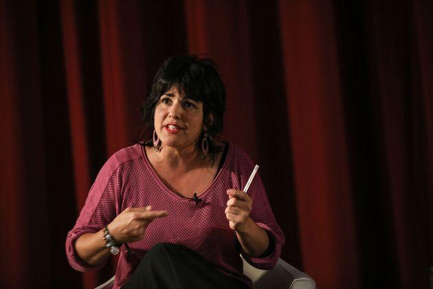 Teresa Rodríguez, en Sevilla, el pasado 7 de noviembre de