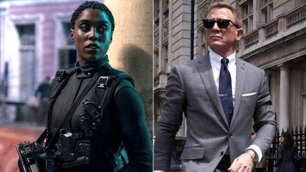 Lashana Lynch y Daniel Craig.