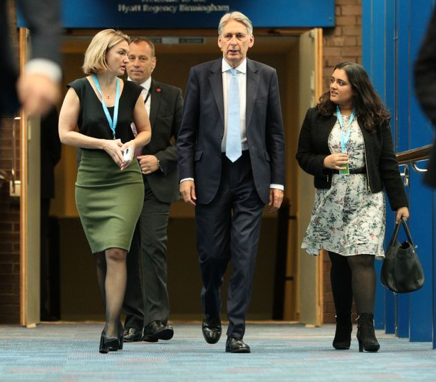 Sonia Khan (right), pictured with Philip Hammond in 2018.