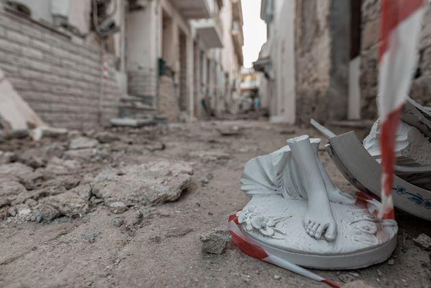 Στιγμιότυπο από την Σάμο μετά τον ισχυρό σεισμό μεγέθους 6,7 Ρίχτερ, Κυριακή 1 Νοεμβρίου