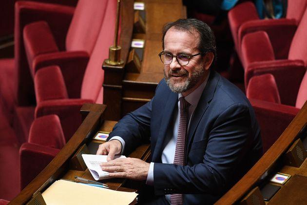 Le député PS Hervé Saulignac photographié à l'Assemblée nationale...