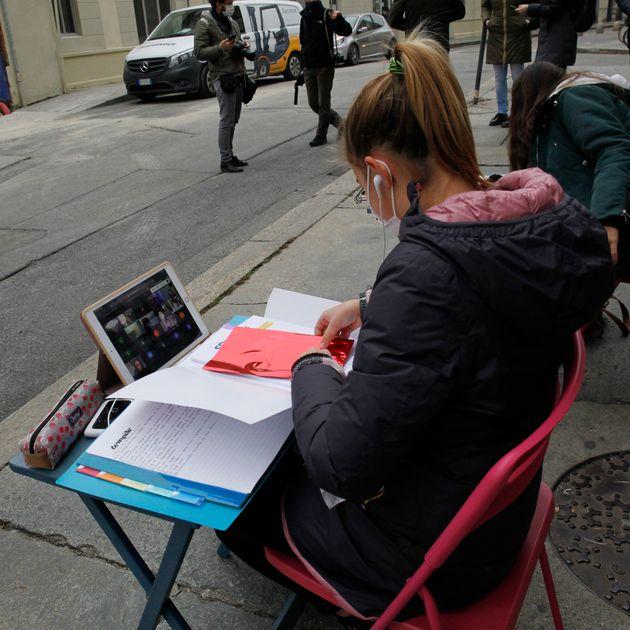 13.11.20,Torino, Scuola Media Tommaseo, ANITA continua la sua protesta contro la