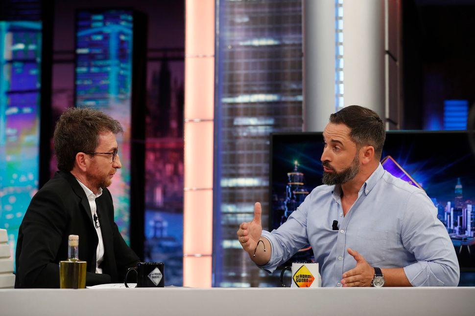 Pablo Motos y Santiago Abascal, en octubre de