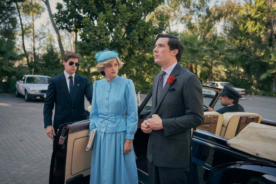 Emma Corrin as Princess Diana and Josh O'Connor as Prince Charles in The