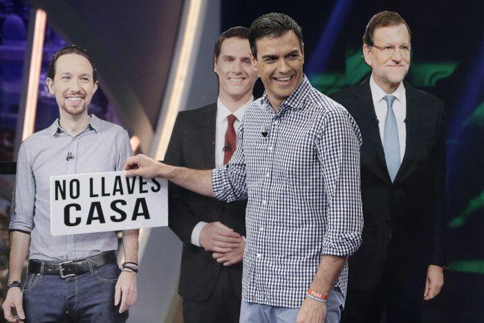 Pedro Sánchez en uno de los juegos de 'El Hormiguero' durante su visita el 20 de junio de