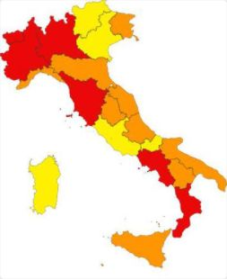 Cartina Italia Per Siti Web.Le Tre Zone E Le Regole Locali Come Cambia La Mappa Dei Divieti In Italia L Huffpost