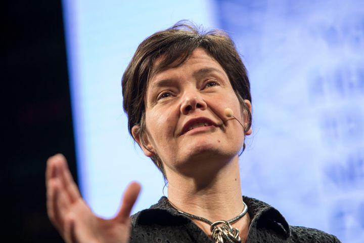 """Kate Raworth, economist and author of the best-selling book """"Doughnut Economics,"""" pictured in 2017. Credit: David Levenson/Getty Images"""