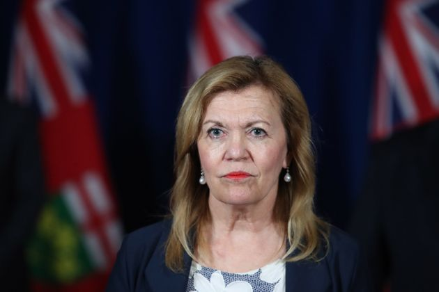 Ontario Minister of Health Christine Elliott at a COVID-19 press conference at Queen's Park in Toronto,...