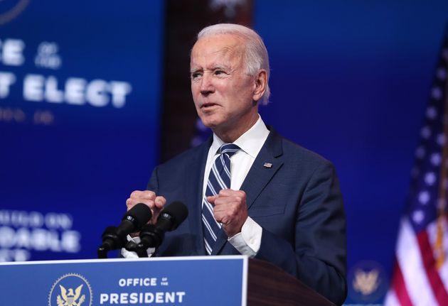 Joe Biden, ici s'adressant aux médias à Wilmington dans le Delaware, le 10 novembre