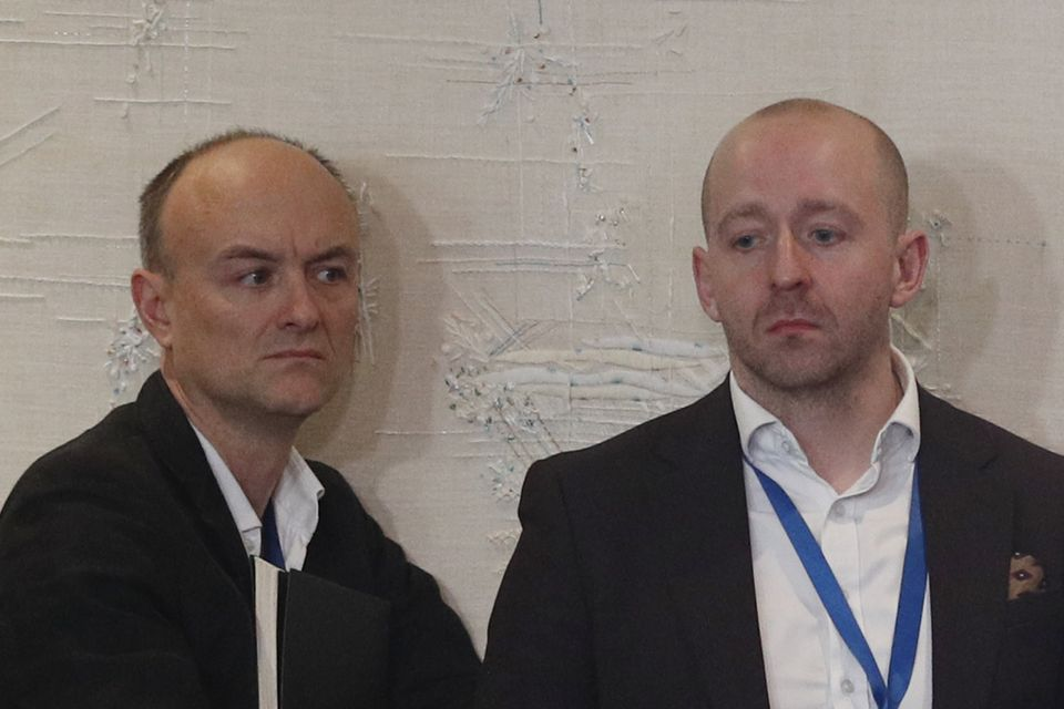 Dominic Cummings (left) alongside director of communications Lee Cain. Both are leaving their