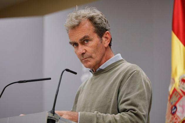 Fernando Simón, durante una rueda de prensa para el seguimiento de la pandemia en
