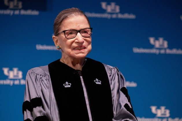 The late Supreme Court Justice Ruth Bader Ginsburg is being honored with a three-story street art mural...