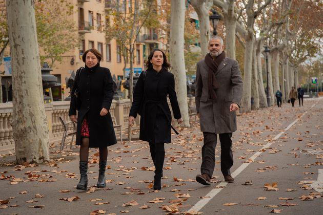 Inés Arrimadas y Carlos Carrizosa en Barcelona, en diciembre de