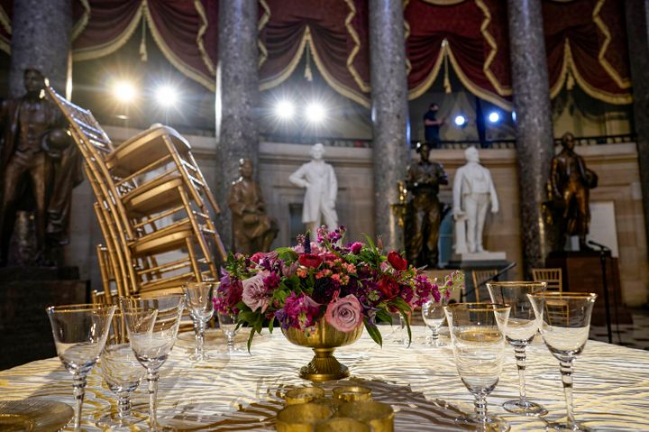 As part of freshman orientation week, Statuary Hall in the Capitol was set up for a dinner to welcome newly elected members o